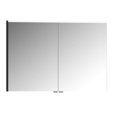 Premium Dolaplı Ayna 100 cm Hasiente Siyah