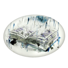 Renkli Kitap Oval Dekoratif Tablo