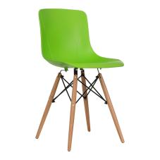 Maya Yeşil Ahşap Ayaklı Sandalye