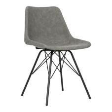 Leather Antrasit Metal Ayaklı Sandalye