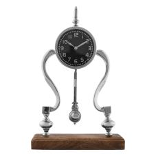 Dragon Ahşap Standlı Gümüş Masa Saati