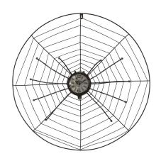 Cool Örümcek Ağı Model Duvar Saati
