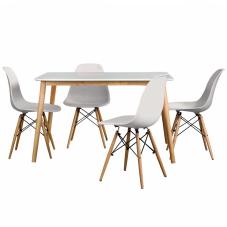 Aqua-S Beyaz Masa Sandalye Seti