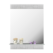 Doru Ledli Raflı Banyo Aynası