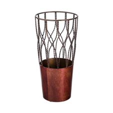 Lux Bordo Metal Dekoratif Vazo