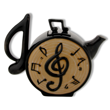 Müzik Notalı Dekoratif Çaydanlık