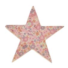 Şiva Çiçek Desenli Dekoratif Yıldız Pembe Küçük Boy