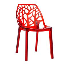 Mira Kırmızı Şeffaf Sandalye