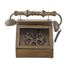 Zen Antik Bronz Metal Masa Saati