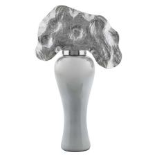 Rani Gümüş Metal Yapraklı Vazo Büyük Boy