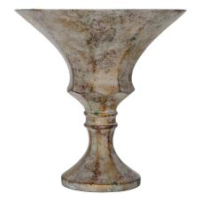 Nari Eskitme Dekoratif Geniş Kupa Vazo