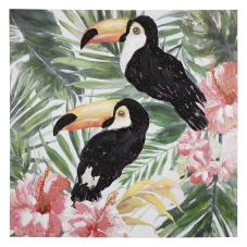Pera Vintage Papağanlar Dekoratif Tablo