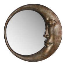 Saga Bronz Ay Model Duvar Aynası
