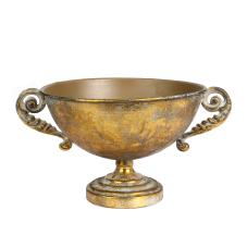 Margari Gümüş Metal Kulplu Vazo