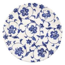 Soil Mavi Çini Desenli Dekoratif Tabak