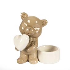 Lima  Kalpli Ayıcık Porselen Mumluk