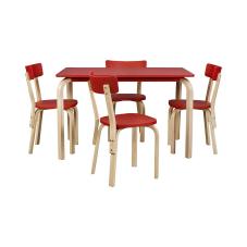 Tobi Kırmızı Masa Sandalye Seti