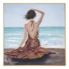 Doru Denize Bakan Kadın Dekoratif Tablo