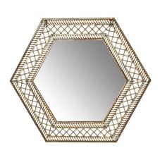 Gold Altıgen Duvar Aynası