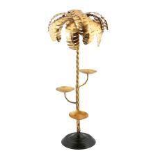 Gold 3Lü Palmiye Mumluk