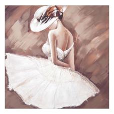 Doru Beyaz Elbiseli Kadın Tablo