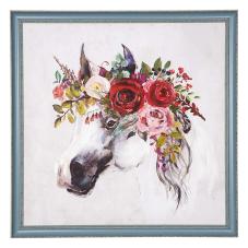 Pera Kırmızı Çiçekli Dekoratif Tablo