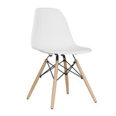 Aqua Beyaz Ahşap Ayaklı Sandalye