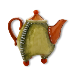 Seramik Klasik Dekoratif Çaydanlık