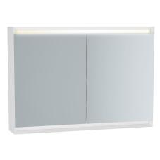 Frame Dolaplı Ayna 100 cm Mat Soft Beyaz