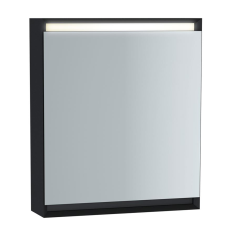 Frame Dolaplı Ayna 60 cm Mat Soft Siyah Sağ