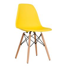 Aqua Sarı Ahşap Ayaklı Sandalye