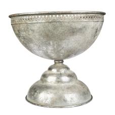 Margari Gümüş Meta Oval Vazo