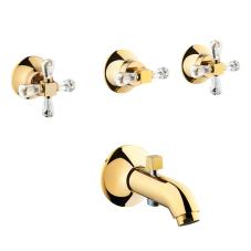 Artema Juno Swarovski Ankastre Banyo Bataryası (El Duşu Çıkışlı, Sıva Üstü Grubu), Altın