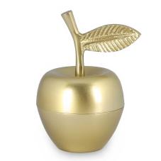 Gold Elma Kapaklı Dekoratif Obje Küçük Boy