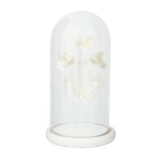 Diya Beyaz Kelebekler Dekoratif Obje Büyük Boy
