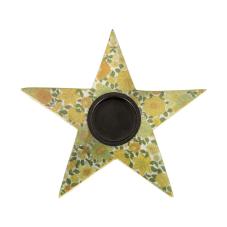Şiva Çiçek Desenli Yıldız T-Light Yeşil