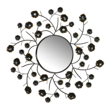 Ferry Metal Çiçekli Duvar Aynası