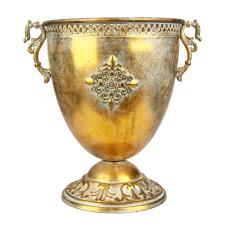 Marial Gold Metal Oval Kupa Vazo