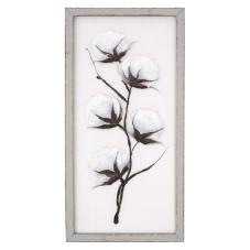 Pera Pamuk Çiçeği Dekoratif Tablo