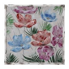 Doru Renkli Çiçek Dekoratif Tablo