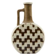 Slim Seramik Kahve Kulplu Vazo