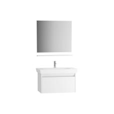 Step Demonte Set 85 cm Çekmeceli (Lavabo Dolabı Ayna Raf) Parlak Beyaz