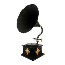Lux Metal Dekoratif Gramafon