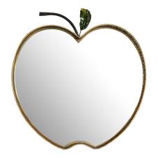Gold Elma Metal Duvar Aynası
