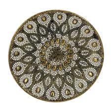 Lux Bronz Telkari Dekoratif Tabak