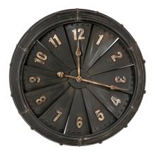 Yelpaze Çarklı Metal Duvar Saati