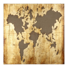 Doru Dünya Haritası Dekoratif Tablo