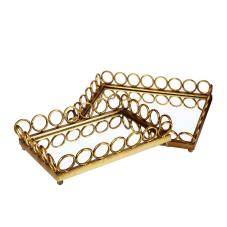 Lux Gold 2 Li Dekoratif Tepsi