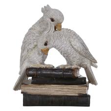 Lima Kitap Üstünde Papağan Biblo