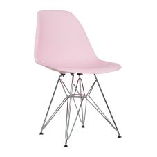 Shift Pembe Metal Ayaklı Sandalye